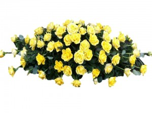Yellow Double Ended Casket Spray