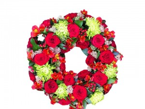 Red & Green Open Wreath