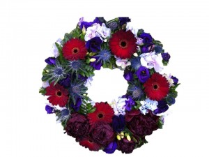 Red & Purple Open Wreath