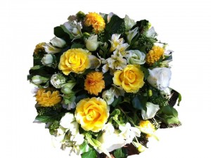 Yellow & Cream Posy Arrangement